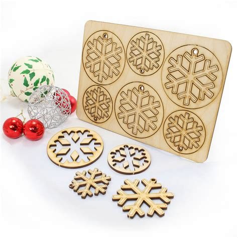 Laser Decorations - 12 laser cut snowflake decorations laser