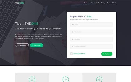 Bootstrap Landing Pages Wrapbootstrap Bootstrap 4 Landing Page Template
