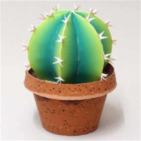 Home Decoration Cactus Plant Paper Model Pepakura Corner Paper Cactus Template