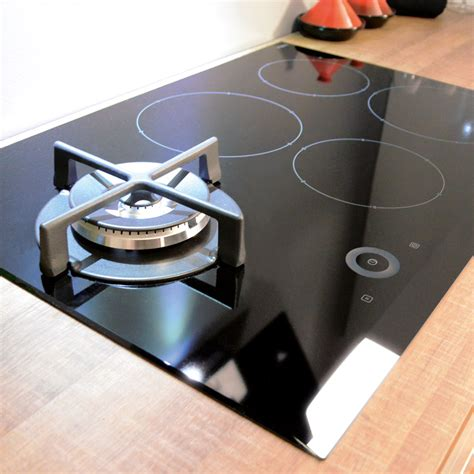 Individual Induction Cooktop cda four zone induction hob with single gas wok burner