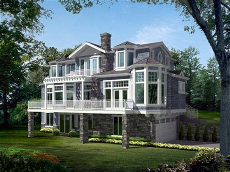 narrow lakefront house plans small house plans lakefront