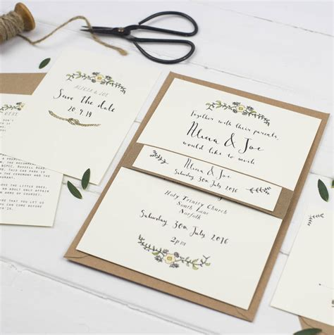 Post Card Wedding Invitations by Bespoke Postcard Wedding Invitation By Wildflower