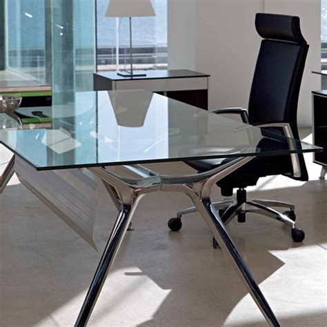 Glass Office Desk Type Very Elegant Glass Office Desk Glass Home Office Desks