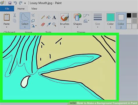 make background transparent in paint how to make a background transparent in paint 12 steps