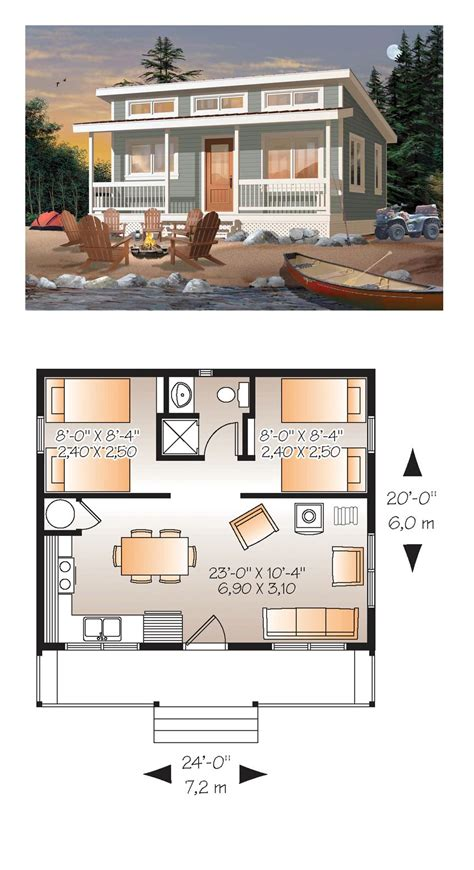 small guest house floor plans tiny house plan 76166 total living area 480 sq ft 2 bedrooms and 1 bathroom tinyhome