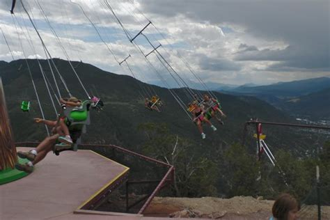 glenwood springs swing ride giant canyon swing picture of glenwood caverns adventure
