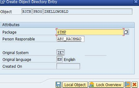 sap rest tutorial creating new abap program using transaction se80 part 1