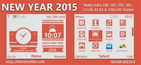 new year themes for nokia asha 302 happy new year 2015 live theme for nokia c3 00 x2 01