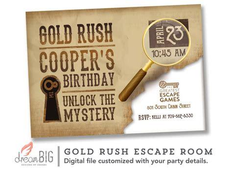 printable escape room invitations escape room invite boys or girls birthday invitation