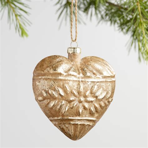 Gold Glass Ornaments - gold and glass ornaments set of 2 world market