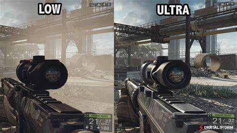 graphics battle battlefield 2 black battlefield 4 graphics comparison ultra high medium