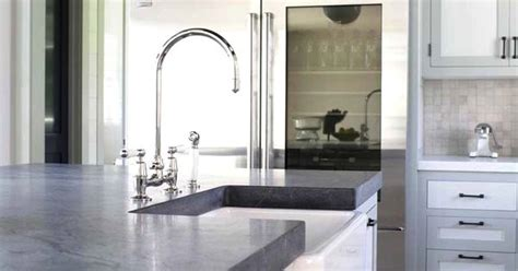 Light Soapstone - kitchens with white counters with light gray soapstone