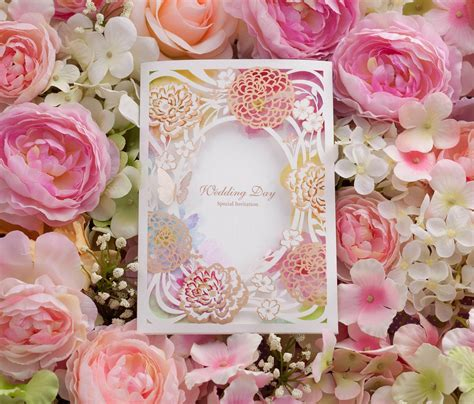 Coloured Card For Wedding Invitations by Wedding Invitations Cards Laser Cut New Arrival
