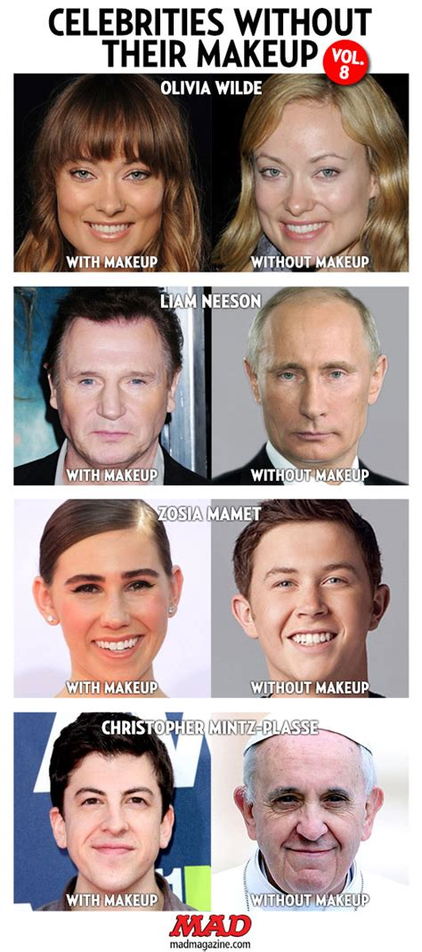 celebrities without their makeup mad celebrities without their makeup vol 8 mad magazine
