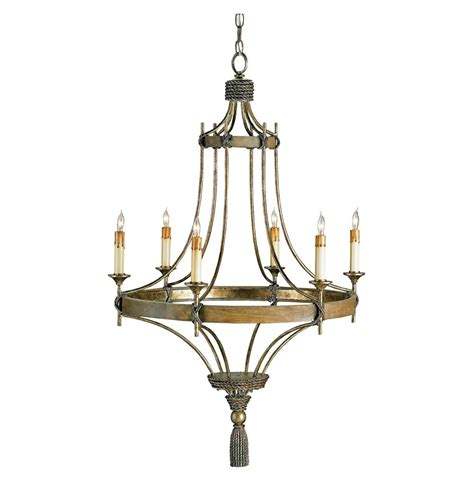 Lights And Chandeliers Rustic Bronze Wrought Iron 6 Light Chandelier Kathy Kuo Home