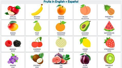 q significa vegetables en espa ol frutas en ingles y espa 241 ol imagui
