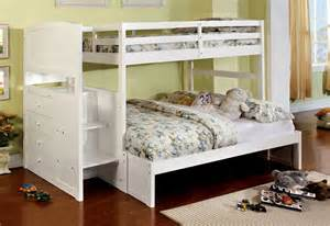 appenzell white bunk bed storage drawers