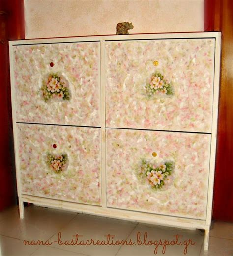 photo decoupage on wood decoupage on wooden furniture for shoes nana s creations