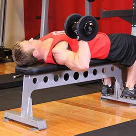 bench press for arms one arm dumbbell bench press exercise videos guides