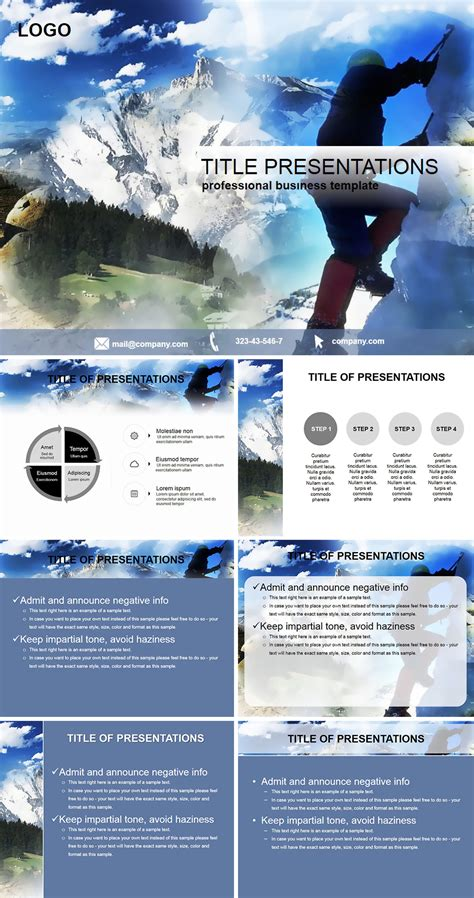 Mountain Climbing Sports Powerpoint Templates Imaginelayout Com Rock Climbing Log Book Template