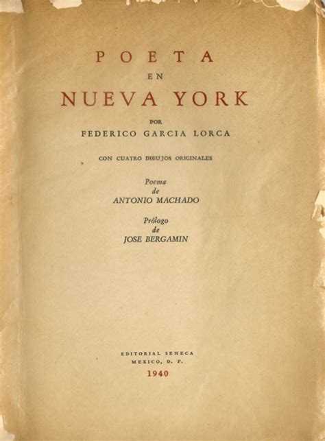 poeta en nueva york federico garc 237 a lorca un libro cada d 237 a