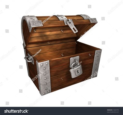 check my open open but empty treasure chest on white background easy