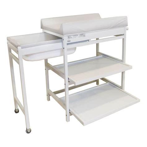 Attrayant Table A Langer Avec Baignoire Pas Cher #3: Table-a-langer-comfort-baignoire-et-matelas-blanc.jpg