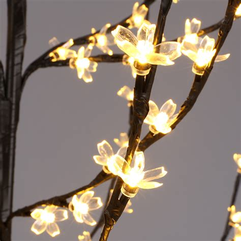 blossom lights 6 cherry blossom lighted tree floor l 200 led lights warm white us ebay