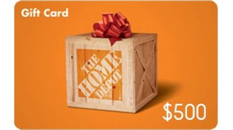 free 500 home depot gift card giveaway