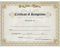 printable certificate of recognition awards certificates