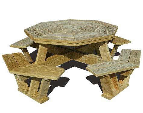 woodwork wooden hexagon picnic table plans  plans