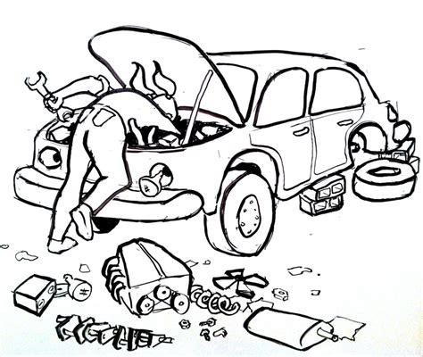 mechanic drawing on car repair and rewrites writers rumpus