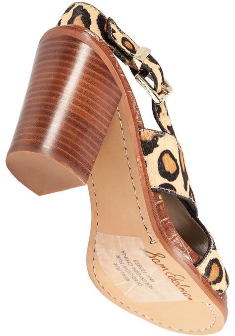 sam edelman leopard sandals sam edelman leopard print sandals lyst