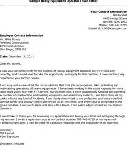 Crane Operator Cover Letter by What Is And How To Make Heavy Equipment Operator Cover