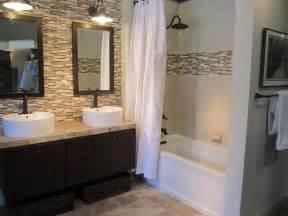 Bathroom Tile Accent Wall by Bathroom