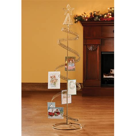 spiral christmas tree card holder