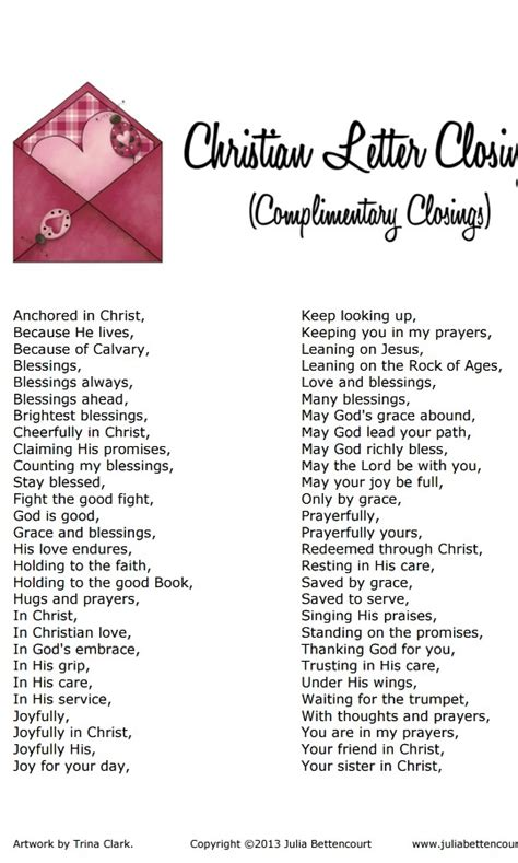 Closing Letter Expressions Christian Letter Closing Stuff To Try Christian And Pastor