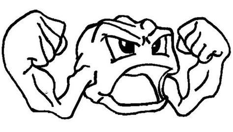 pokemon coloring pages geodude pokemon coloring page 074 geodude coloring pages