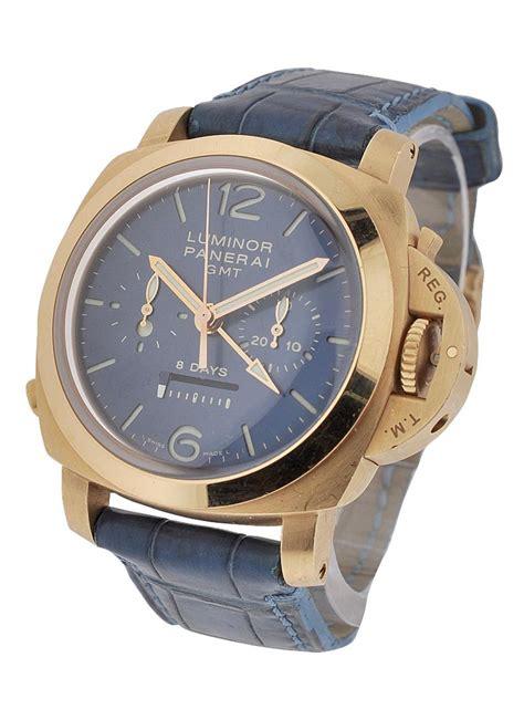 Panerai Luminor Gmt Blue Pam 688 Rosegold Blue Calf pam00277 panerai special editions 2007 essential watches