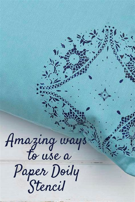 Best Paper To Make Stencils - the most amazing paper doily stencils pillar box blue