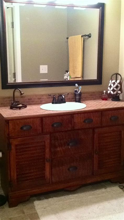 dresser made into a bathroom vanity scrub a dub dub