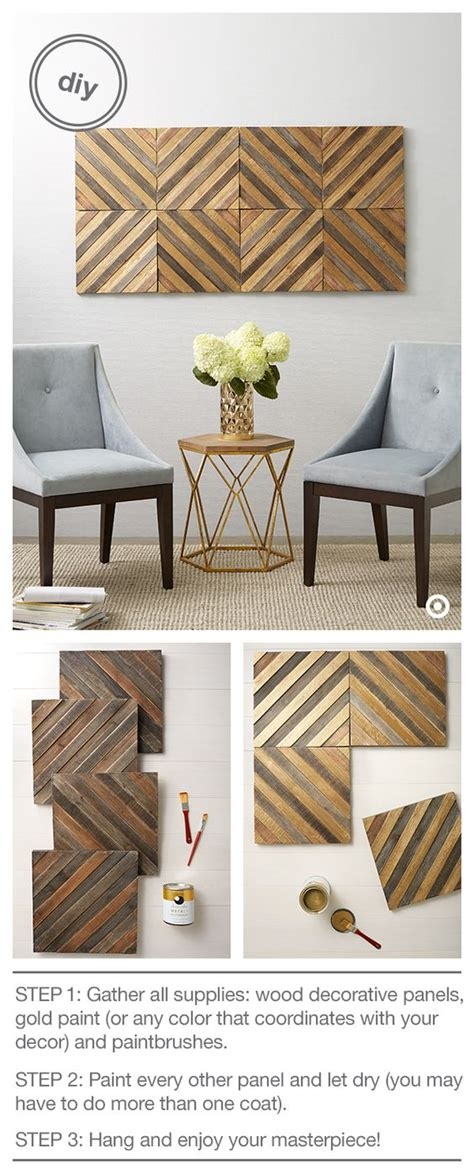 21 diy wood wall artwork pieces for any space and interior looking for an easy way to glam up your space with gold