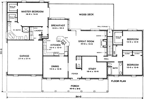 split bedroom ranch house plans ranch with split bedroom design 4978k 1st floor master