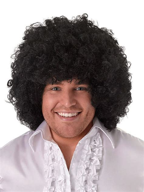 afros for 60 and over mens ladies unisex jumbo black 60s 70s disco afro wig
