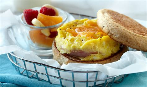 r eggs carbohydrates microwave egg canadian bacon cheese muffin egg