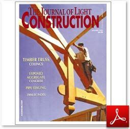 journal of light construction timber frame publications by us lancaster county timber