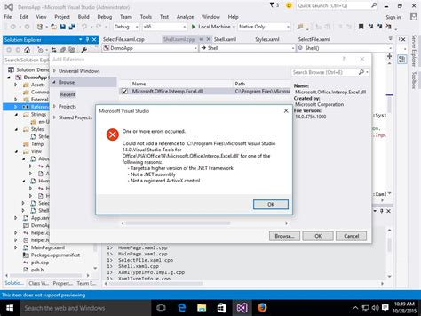 Microsoft Office Interop Excel by Add A Reference To Microsoft Office Interop Excel In