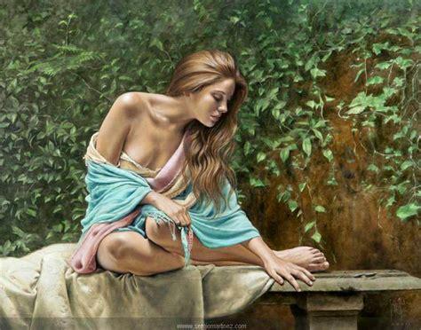 imagenes artisticas de mujeres de espalda cuadros pinturas oleos mujeres pintadas al 243 leo por