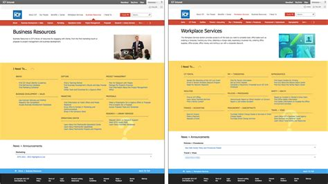 News Section Website Design by Intranet Information Architecture Ia Trends