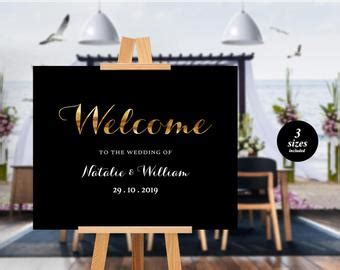 Diy Welcome Sign Etsy Welcome To Our Wedding Template